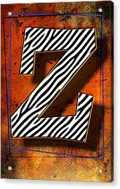 Z Acrylic Print by Mauro Celotti