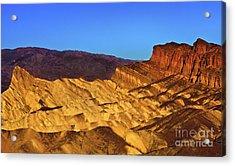 Zabriskie At Sunrise Acrylic Print by Mark East