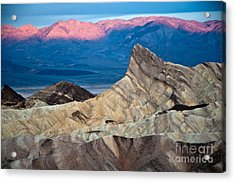 Zabriskie Point Dawn Acrylic Print by Jim Chamberlain