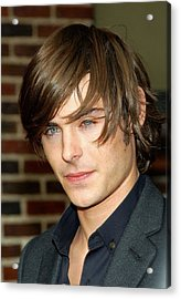 Zac Efron At Talk Show Appearance Acrylic Print by Everett