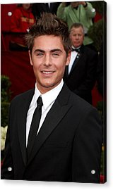 Zach Efron At Arrivals For 82nd Annual Acrylic Print by Everett