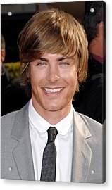 Zach Efron At Arrivals For Arrivals - Acrylic Print by Everett