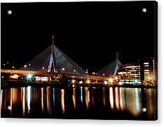 Zakim Over The Charles River Acrylic Print by Richard Bramante