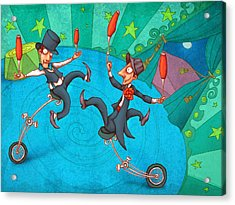 Zanzzini Brothers Acrylic Print by Autogiro Illustration