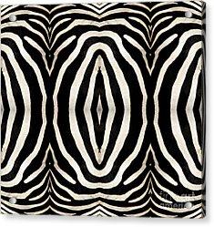 Zebra Hide Acrylic Print by Rose Santuci-Sofranko