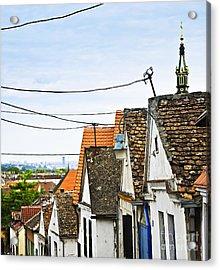 Zemun Rooftops In Belgrade Acrylic Print by Elena Elisseeva