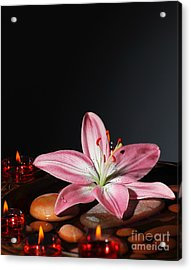 Zen Atmosphere At Spa Salon Acrylic Print by Anna Om