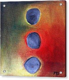 Zen Balance Acrylic Print by Prachi  Shah