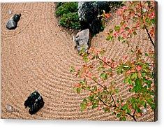 Zen Buddhist Meditation Garden No.1 Acrylic Print by Iuliana Pacso