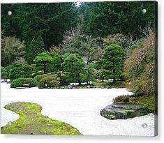 Zen Garden Acrylic Print by Melissa Stinson-Borg