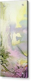 Acrylic Print featuring the painting Zen Mountain by Mary Sullivan