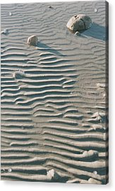 Zen Ripple And Rock Shore Acrylic Print by Peg Toliver
