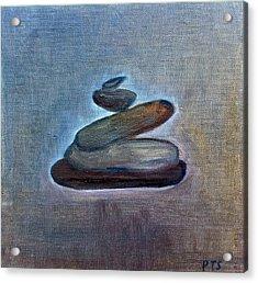 Zen Stones Acrylic Print by Prachi  Shah