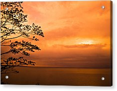Zen Sunset Acrylic Print by Jason Naudi