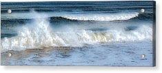 Zen Wave Acrylic Print by Karen Lynch