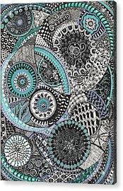 Zentangle Acrylic Print by Lynne Howard