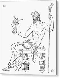 Zeus And Athena Acrylic Print