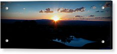 Zia Sun Over Tanoan Acrylic Print by Aaron Burrows