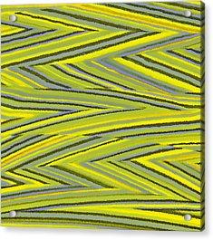 Zig Zag Collection Grey Vs Yellow Acrylic Print by James Mancini Heath