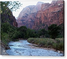 Zion National Park Acrylic Print by Julie Bell