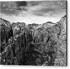 Zion National Park - View From Angels Landing Acrylic Print