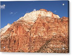Zion Red Rock Acrylic Print by Bob and Nancy Kendrick