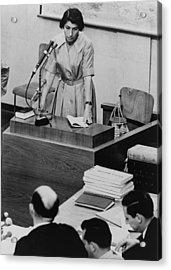 Zivia Lubetkin 1914-1976, Testifying Acrylic Print by Everett