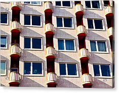 Acrylic Print featuring the photograph Zodiac Apartments by Justin Albrecht