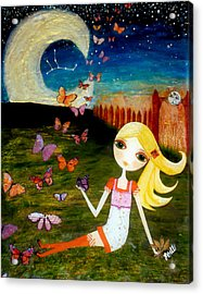 Acrylic Print featuring the painting Zodiac Virgo by Laura Bell