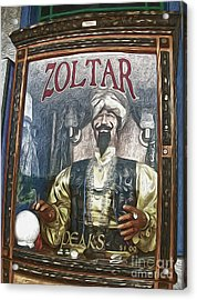 Zoltar The Fortune Teller Acrylic Print by Gregory Dyer