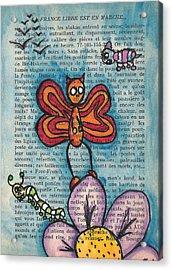 Zombie Butterfly Acrylic Print