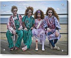 Zombie Medical Family Acrylic Print by Andrew Kazmierski