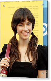 Zooey Deschanel At Arrivals For Little Acrylic Print by Everett