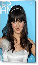 Zooey Deschanel At Arrivals For Los Acrylic Print by Everett