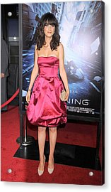 Zooey Deschanel At Arrivals For New Acrylic Print by Everett