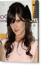 Zooey Deschanel At Arrivals For The Acrylic Print by Everett