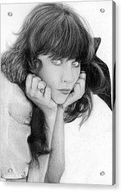 Zooey Deschanel Acrylic Print by Nat Morley