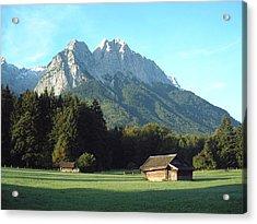 Zugspitz From Grainau Germany Acrylic Print