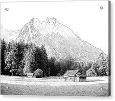 Zugspitz Grainau Germany Acrylic Print