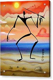 Zulu Acrylic Print by Kevin McDowell