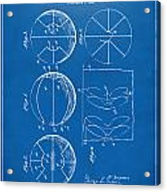 1929 Basketball Patent Artwork - Blueprint Acrylic Print