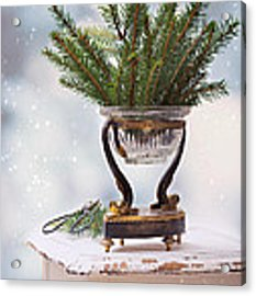 Christmas Decoration Acrylic Print by Amanda Elwell