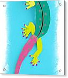 Gecko Two Acrylic Print by Deborah Boyd