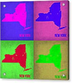 New York Pop Art Map 1 Acrylic Print