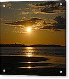 Sunset On Crane Beach Acrylic Print by AnnaJanessa PhotoArt