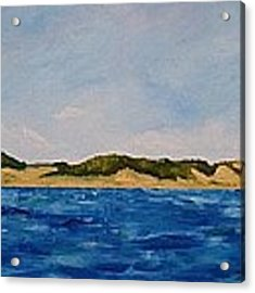 West Michigan Dunes Acrylic Print by Michelle Calkins