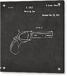 1836 First Colt Revolver Patent Artwork - Gray Acrylic Print