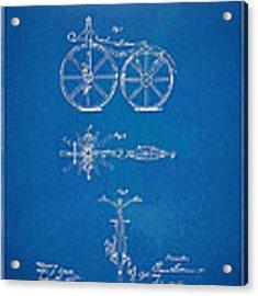1866 Velocipede Bicycle Patent Blueprint Acrylic Print