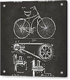 1890 Bicycle Patent Artwork - Gray Acrylic Print