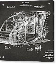 1917 Glenn Curtiss Aeroplane Patent Artwork 3 - Gray Acrylic Print